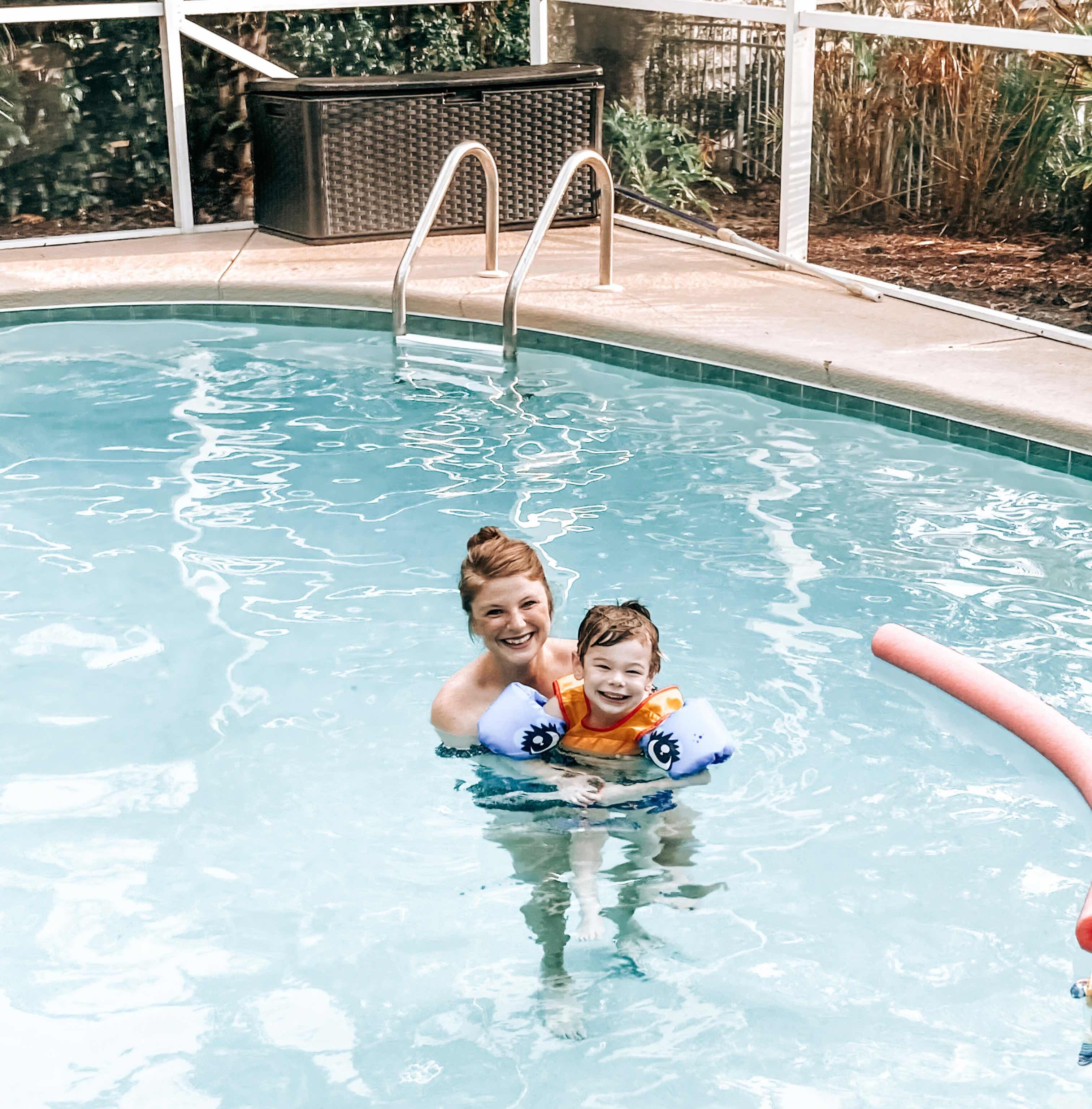 Opal and Max in Pool