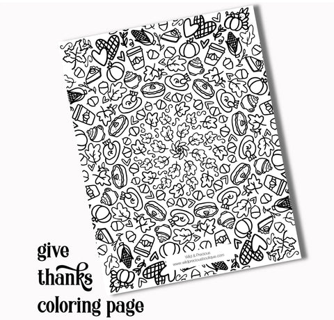 Giving Thanks Coloring Page