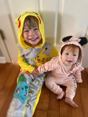 Max and Lennon in Costumes