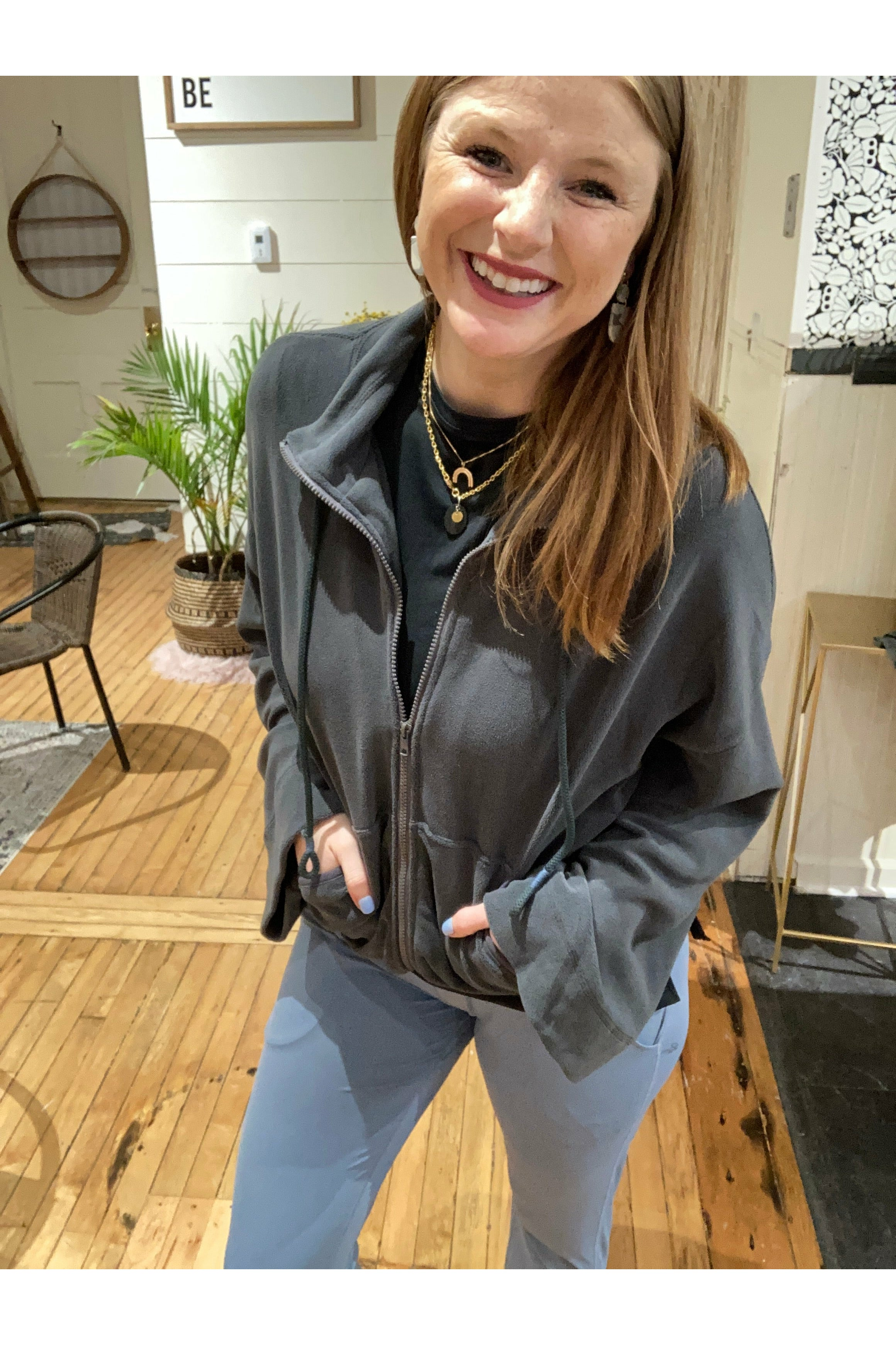 Charcoal Flare Jacket