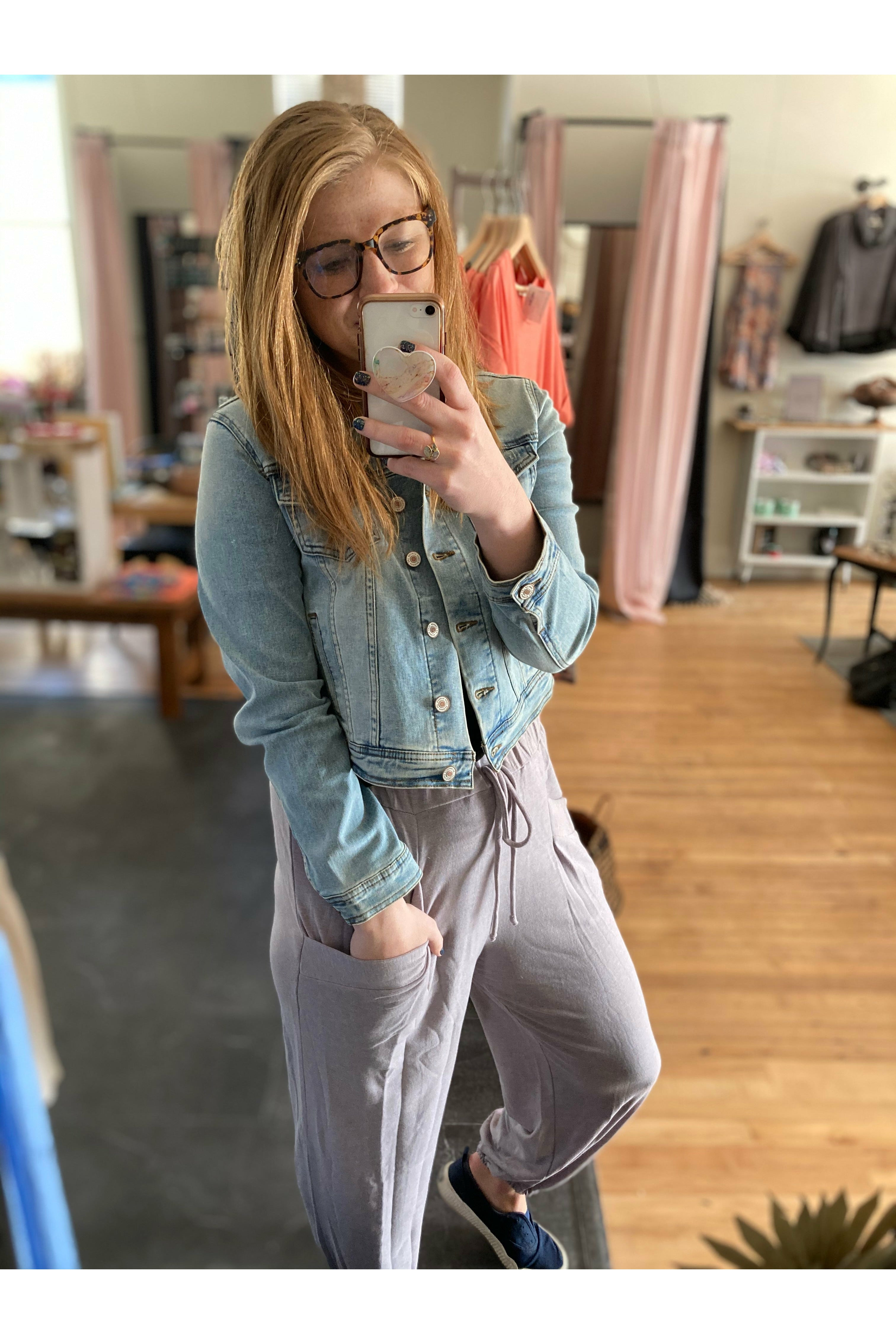Casual Lilac Joggers