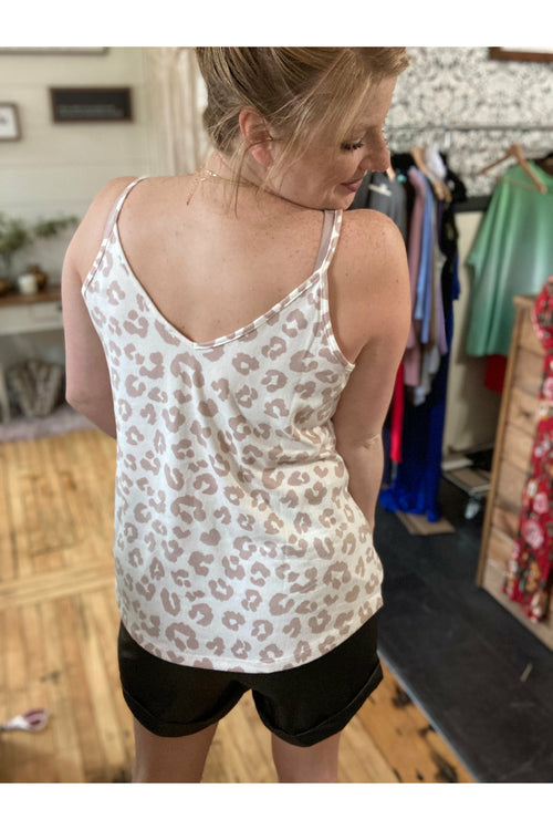 Taupe Leopard Tank