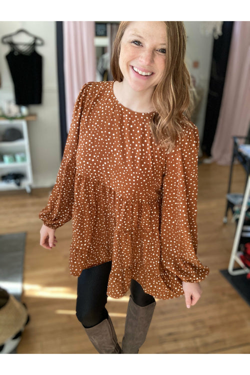 Polka Dot Tiered Top