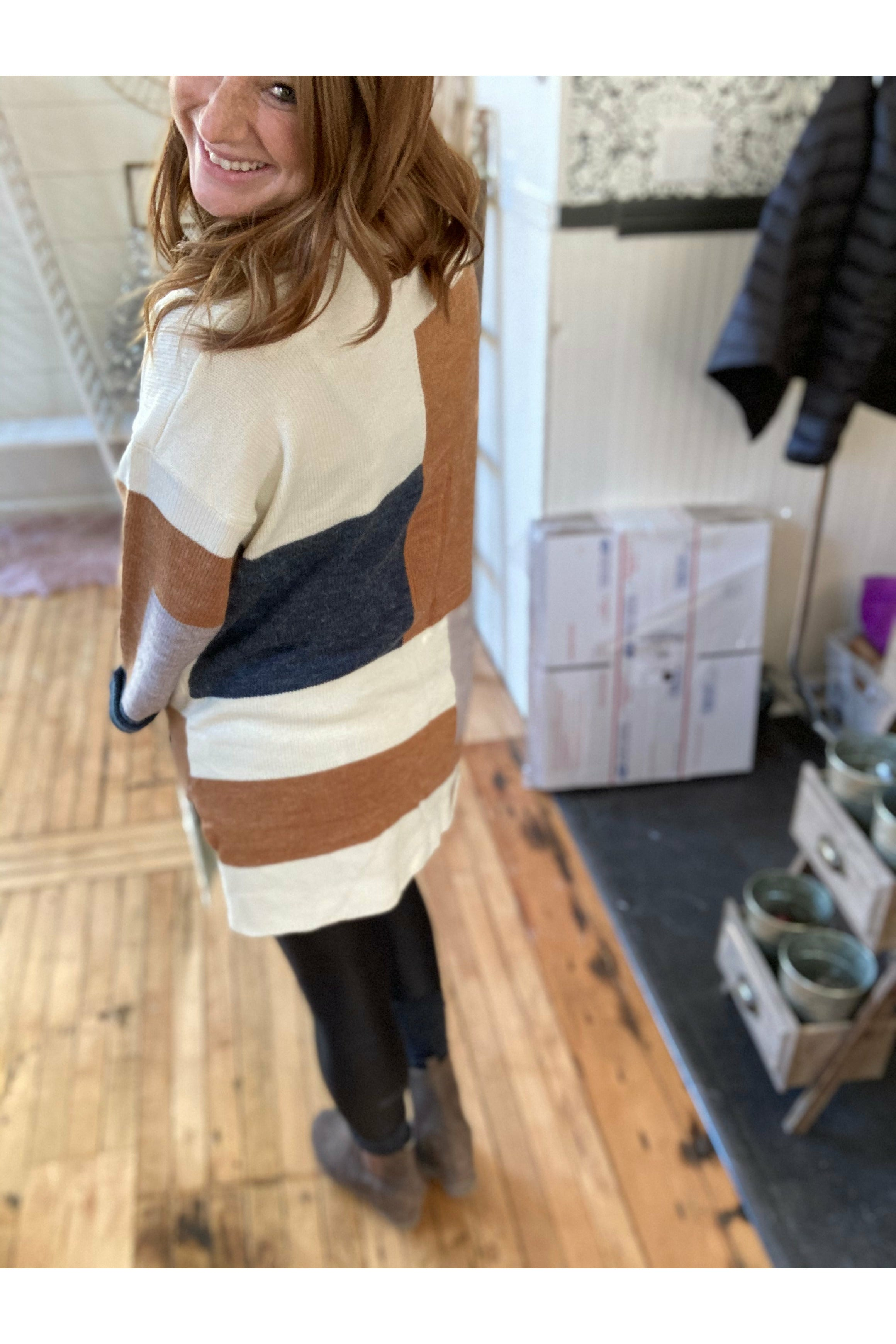 Colorblock Geo Cardigan