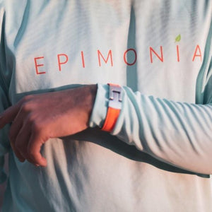 aqua long sleeve islander tee on man epimonia