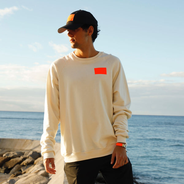 Life Jacket Crewneck White