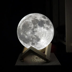 Moon Lamp LED Night Light 3D Printed 10-20cm - Trending Pro