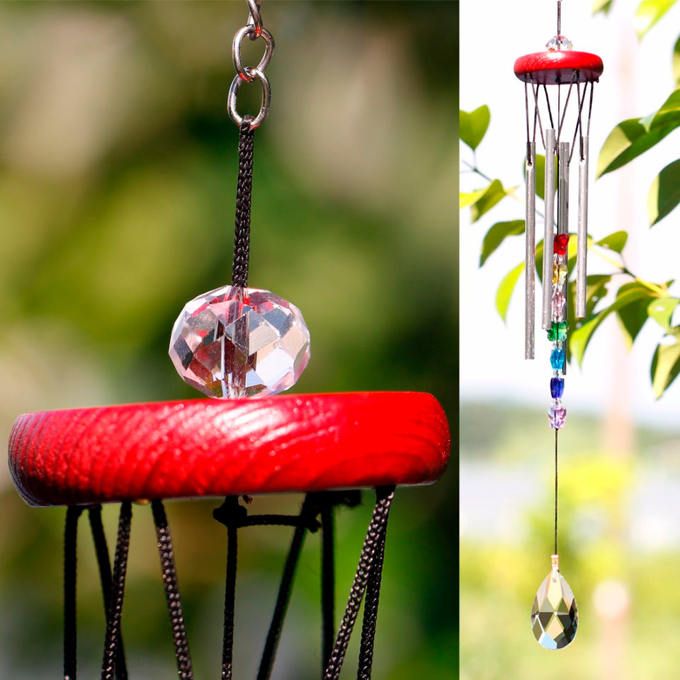 Relaxing Outdoor Crystal Wind Chimes - Trending Pro