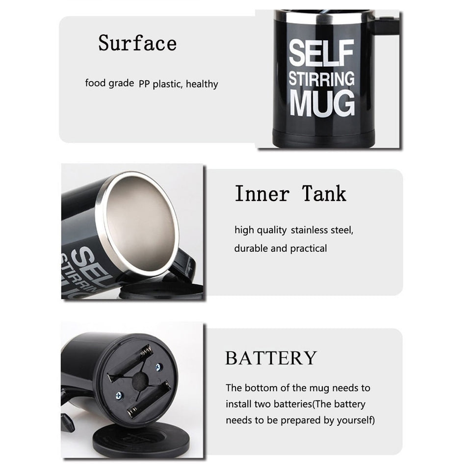 Auto-Mixing Coffee Tea Cup Mags - Eco-friendly High Quality Lazy Stuffs - Trending Pro