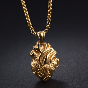 3D Anatomically Correct Heart Charm Necklace - Trending Pro