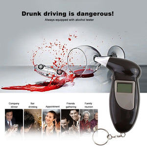 Digital Alcohol Breath Tester Breathalyzer Analyzer Detector Test Keychain - Trending Pro