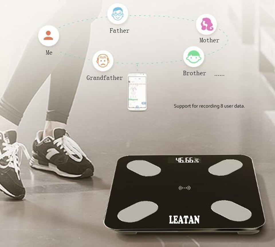 Smart Bluetooth Scales BMI Body Fat & App - Trending Pro