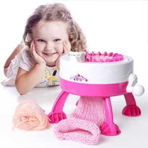 Round Loom Set Knitting Board Rotating Double Knit Loom for Adults/ Kids - Trending Pro