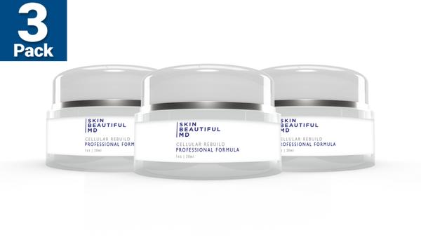 3 Bottles Of Skin Beautiful MD Cellular Rebuild Night/Day Cream For $71