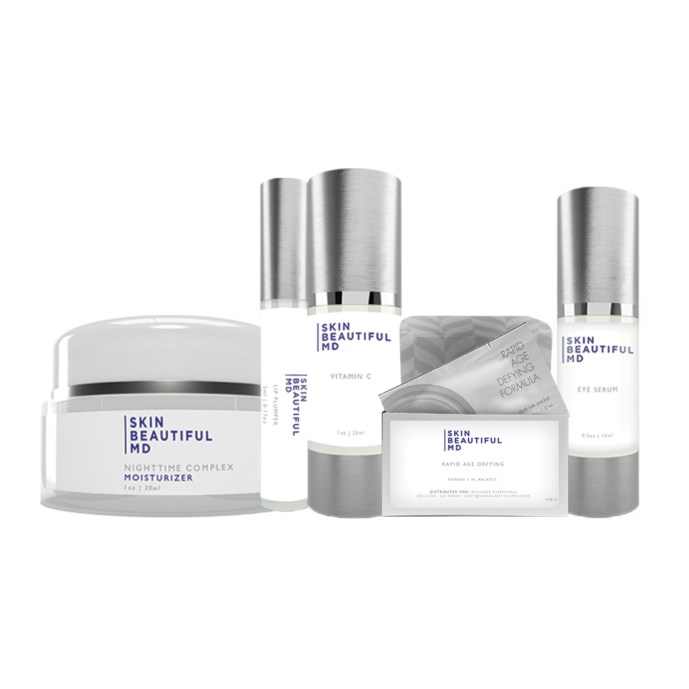 Skin Beautiful MD: 30 Day Miracle Kit (Night Cream, Eye Cream and European Vitamin C Complex)