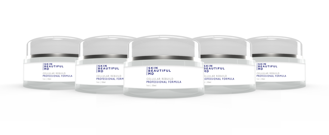 5 Bottles Of Skin Beautiful MD Cellular Rebuild Night/Day Cream