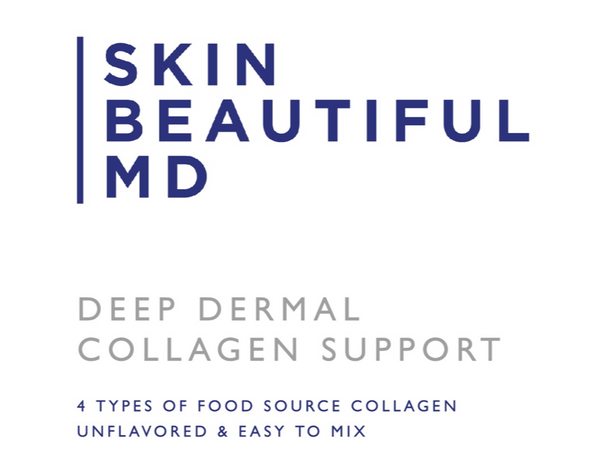 Skin Beautiful MD Deep Dermal Collagen Support (Unflavored Peptide Drink Mix)