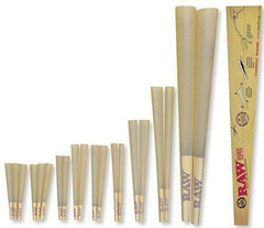 RAW Classic Natural Unrefined 20-Stage Rawket Launcher - 20 Cone Variety Pack (1 Pack)