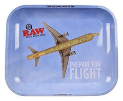 "RAW Prepare for Flight Metal Rolling Tray (Large 13.5""x11"")"