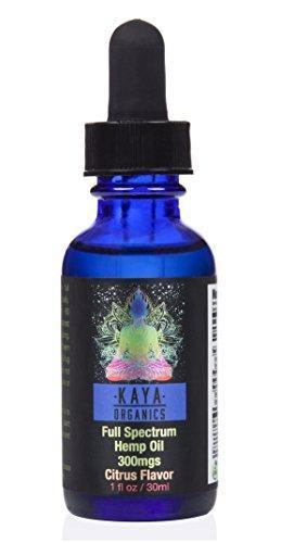 Premium Hemp Oil - 300mg - Full-Spectrum Organic Hemp Oil For Pain, Anxiety, Stress, Inflammation, and Overall Health and Wellness - VETERAN OWNED AND OPERATED - By Kaya Organics