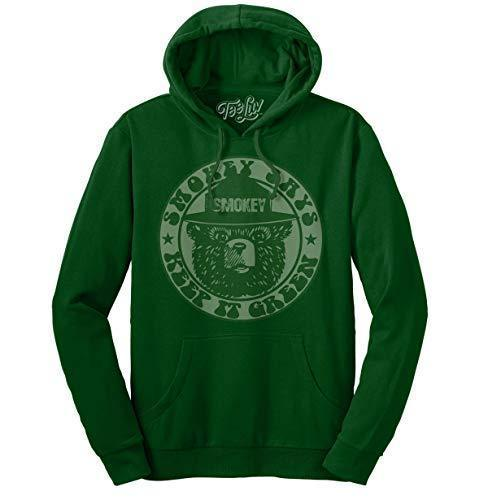 Smokey Keep It Green Hoodie  Soft Touch Hoodie-SM Forest Green