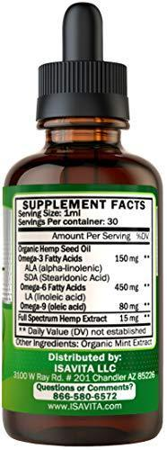 Best Hemp Oil for Anxiety - Calming and Soothing 450mg Full Spectrum Natural Pain Relief Better Sleep Improved Mood Reduce Stress Anti Inflammatory