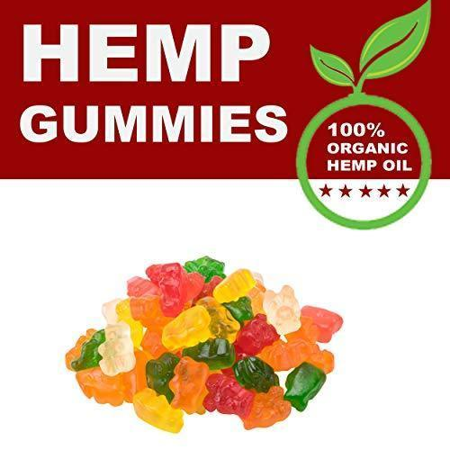 Natural Hemp Gummies - Gummy Bears 500Mg - 50ct - Premium Hemp Extract - Relieve Stress, Pain and Anxiety - Sleep and Mood Balance - Omega 3,6,9 - Made in USA