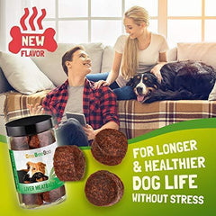 CeeBeeDoo Dog Treats with Hemp Oil for Pain Relief & Anxiety – Healthy & Tasty Hemp Treats for Dogs – Natural Pet Hemp Chews Dog Calming Treats for Small & Large Dogs, (Liver Meatballs)