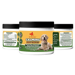 Anxiety Calming Treats for Dogs- Anti Anxiety & Stress Relief Treats for Small, Medium & Large Dogs - Organic Hemp Oil & Valerian Root for Barking, Storms & Travel - Bacon Flavor - 120 Count