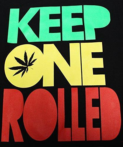 Keep One Rolled Marijuana 420 Pot Blunt Dank Weed Smoker Funny Men's T-Shirt - (X-Large) - Black
