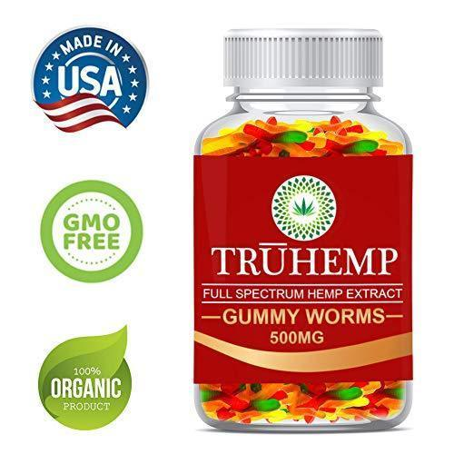 Premium Full Spectrum Hemp Extract Worms Gummy - Safe and Natural - Made in USA - 500MG Total, 14MG Each - Great for Skin, Relaxing, Pain, Stress & Anxiety Relief (Worms)