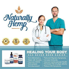 Naturally Hemp Oil 300mg - Certified Organic - Full Spectrum Extract - Relief for Stress, Inflammation, Pain, Sleep, Anxiety, Depression, Nausea - and More!