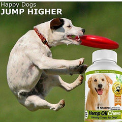 Amazing Hemp Oil for Dogs Calming Treats - Dog Stress Relief Anxiety Aid for Storms, Barking, Chewing - Aids Joint Health - 120 Supplement Chews