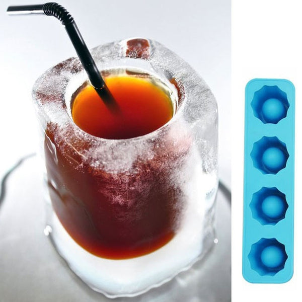 MOONBIFFY Ice Cube Tray Mold Makes Shot Glasses Ice Mould Novelty Gifts Ice Tray Summer Drinking Tool Ice Shot Glass Mold D0093