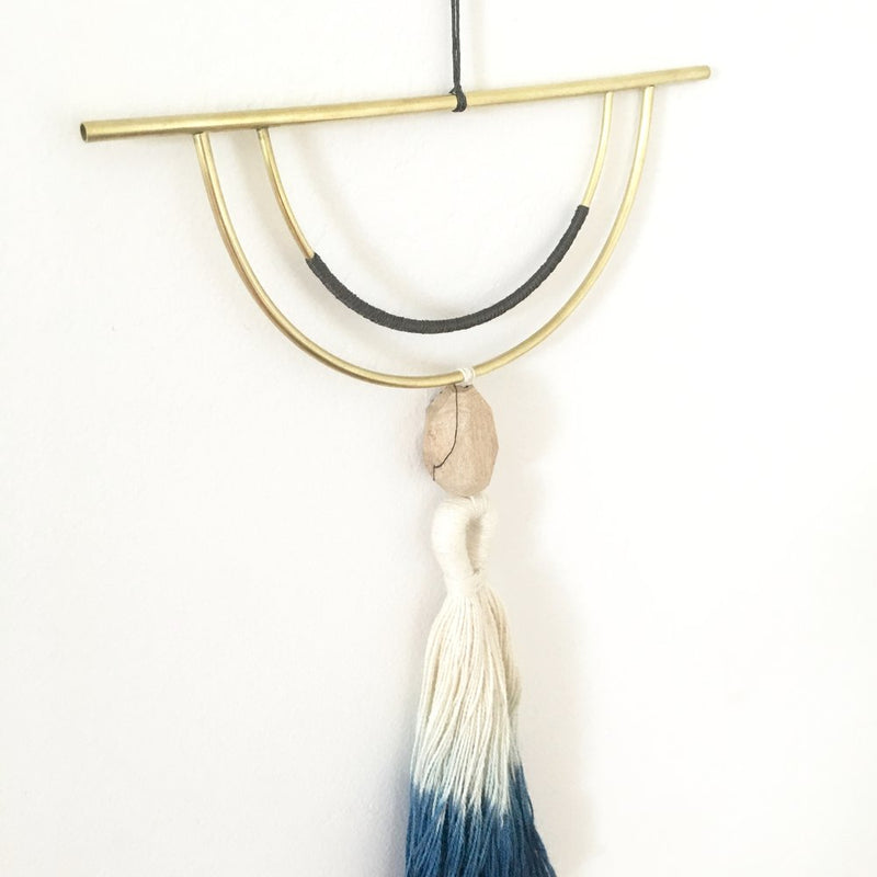 Horizon wall hanging- Indigo dipped