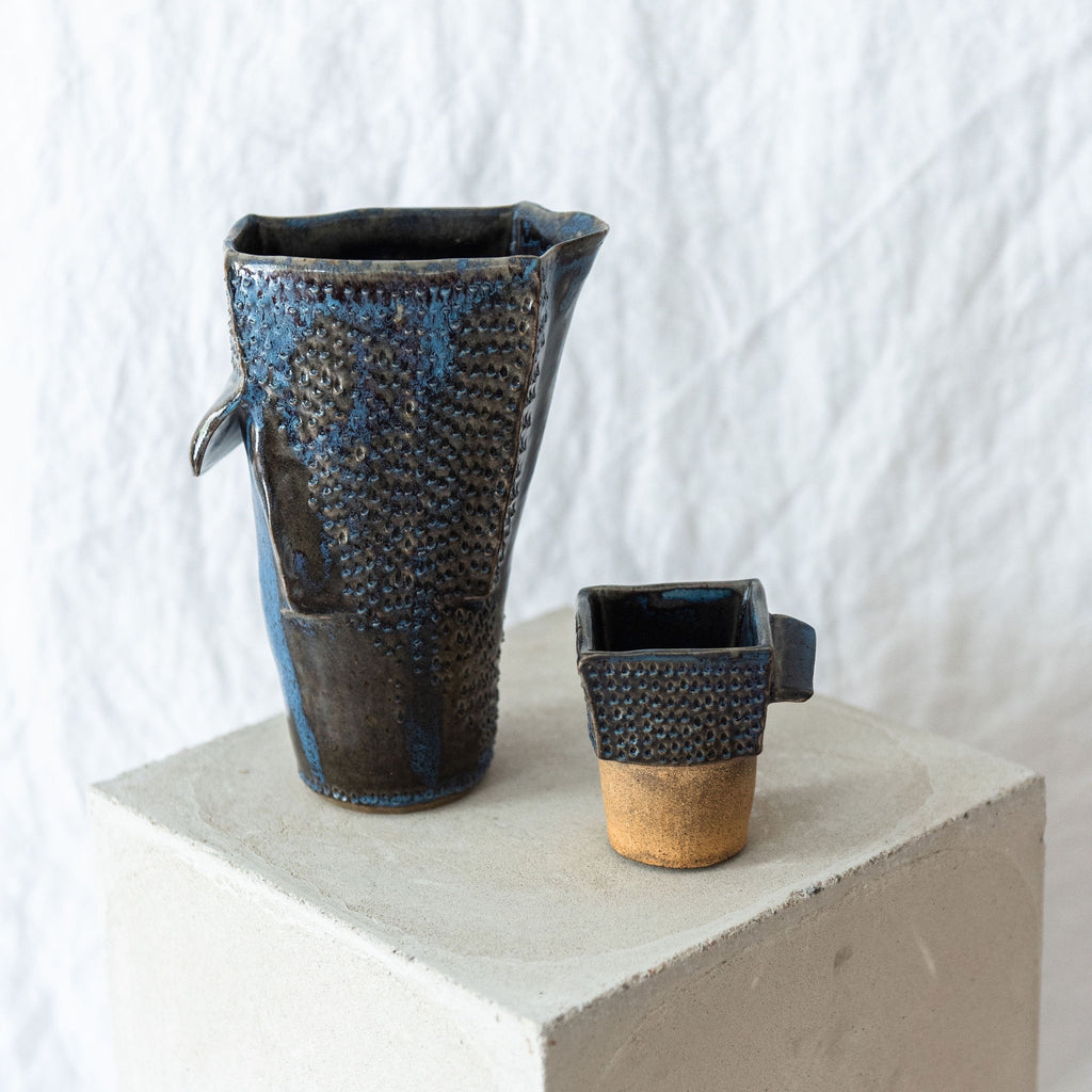 Abstract studio pottery set