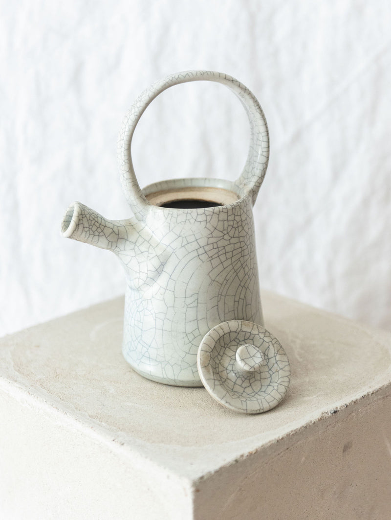 Ceramic raku tea pot