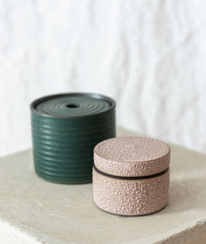 Textured Blush Jar
