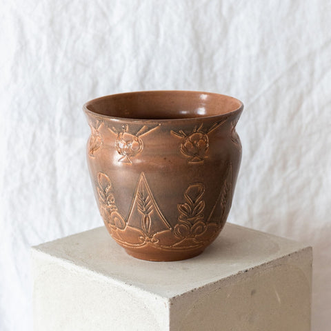 Carved Brazilian vase