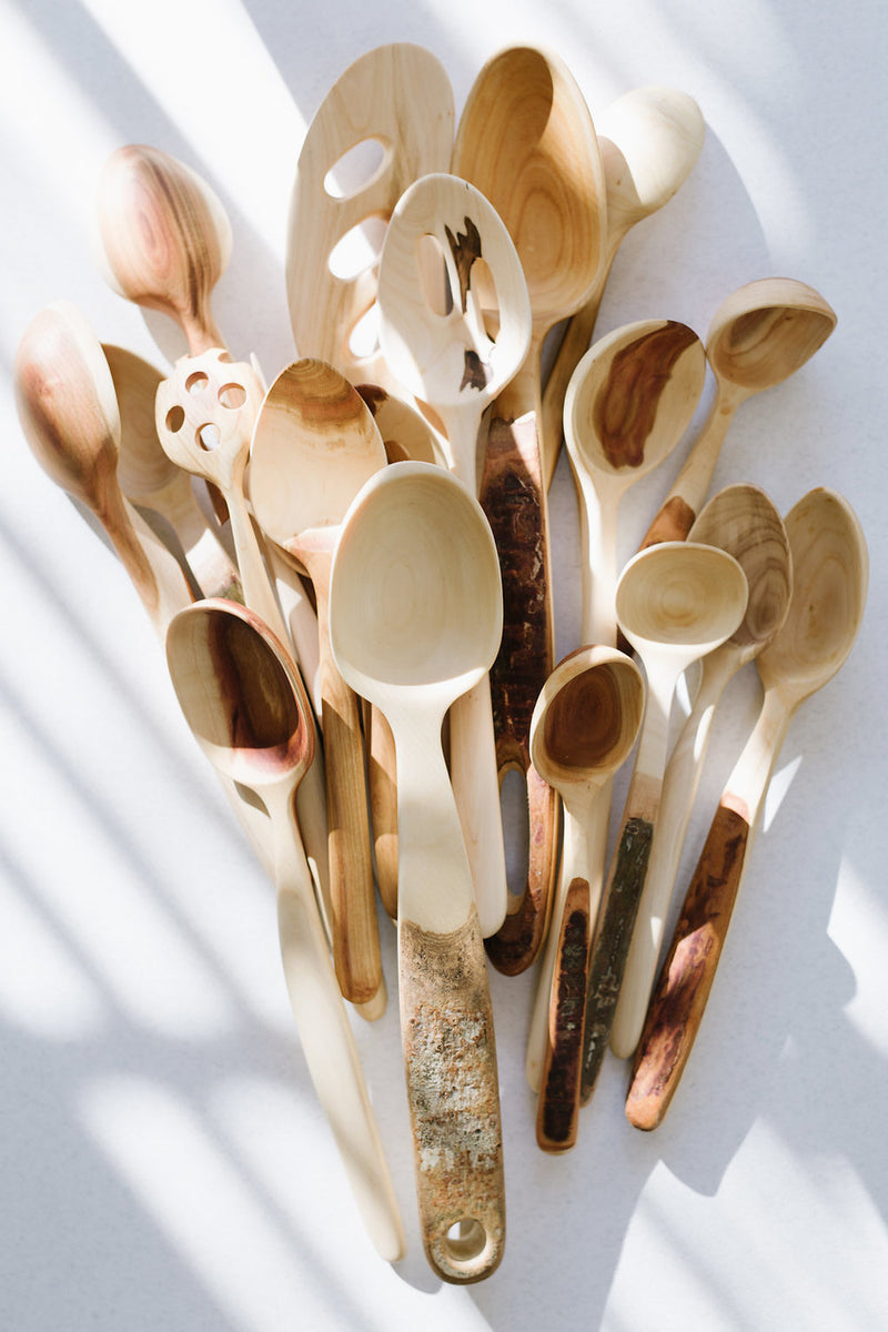 Natural Strainer Spoons
