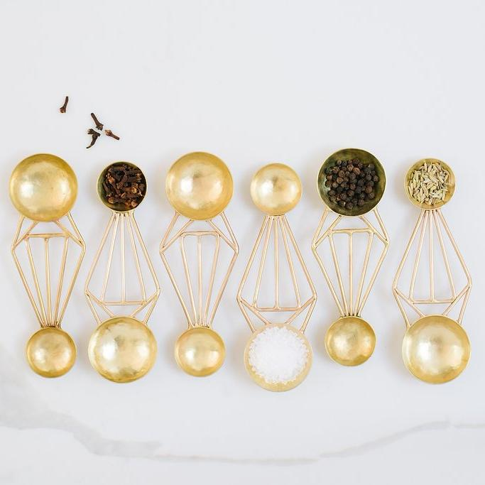 Double-sided Brass Measuring Spoons