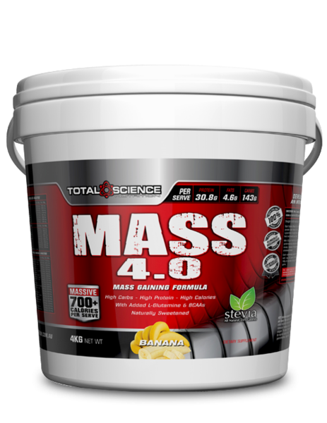 TOTAL SCIENCE NUTRITION - MASS 4.0 - 4KG - SuppsAustralia.com.au