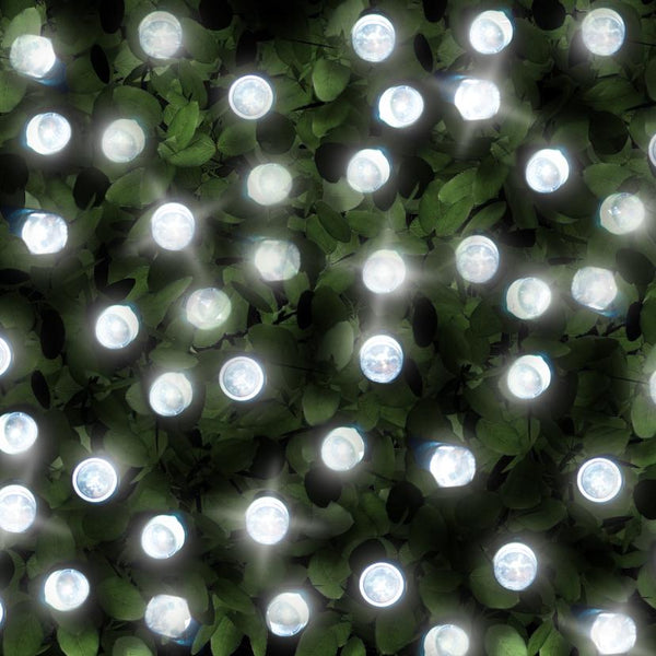 200 Bright White LED Solar Fairy Lights - Dual Powered with USB