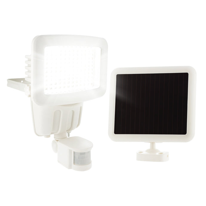 120 SMD LED Solar Security Light in White - Waterproof and for Outdoor use with Built-in PIR Sensor (free 2-year warranty included)