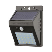 20 LED Solar Security Light - switched on