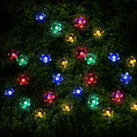 50 Multi-Colour LED Cherry Blossom Flowers Solar Fairy Lights