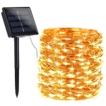 100 Warm White LED Solar String Lights