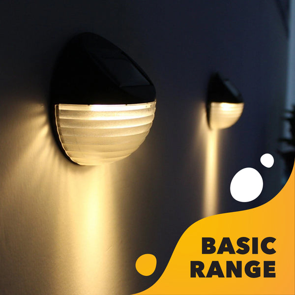 Solar Wall Lights (Set of 4) with Bright White LEDs