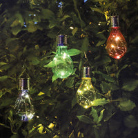 Multi-Colour Solar Bulb Lights (Set of 4)