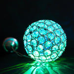 Colour Changing LED Solar Powered Crystal Ball Light Party Lights